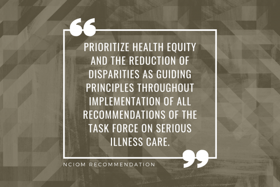 NC Serious Illness Coalition Members Issue Equity Statements